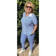 Travel shirt panter blauw anna