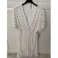 jurk wit gouden dots